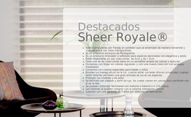 DESCRIP. SHEER ROYALE