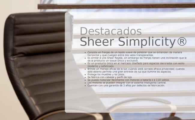 DESCRIP. SHEER SIMPLICITY