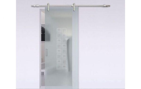 Puerta corrediza en vidrio templado
