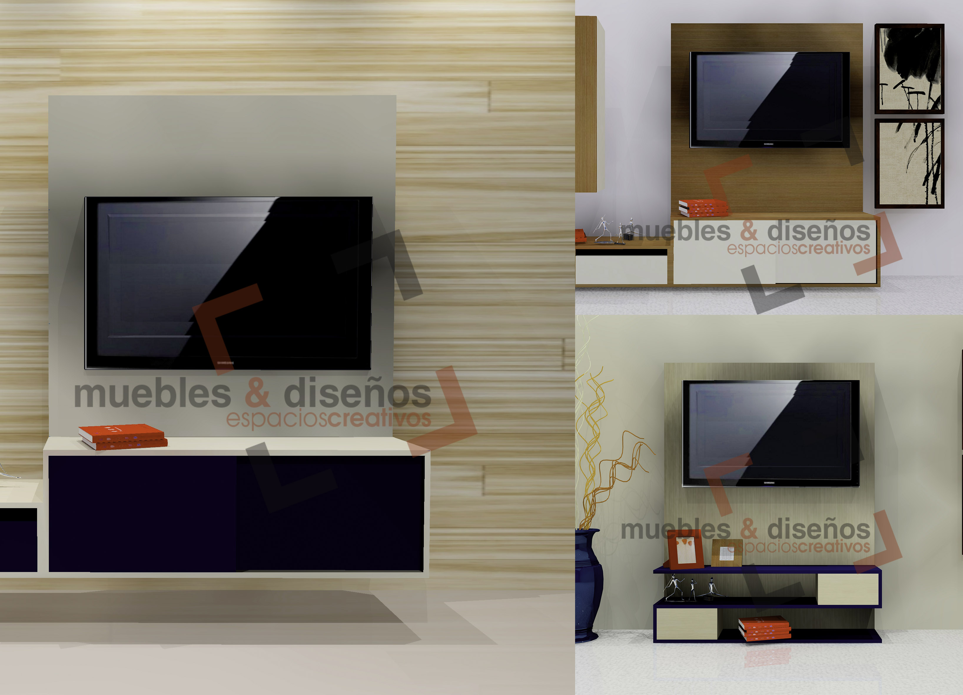 Muebles para tv muebles y dise os for Disenos de muebles de tv