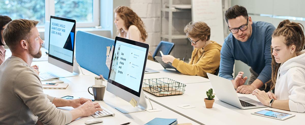Mostrar una oficina moderna